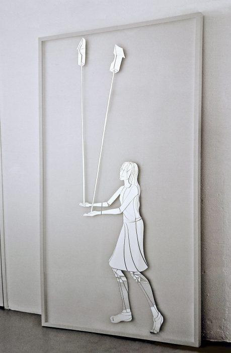Mariana Vassileva / 2008 / birdhouse / Mirror glass / frame / 200x120cm
