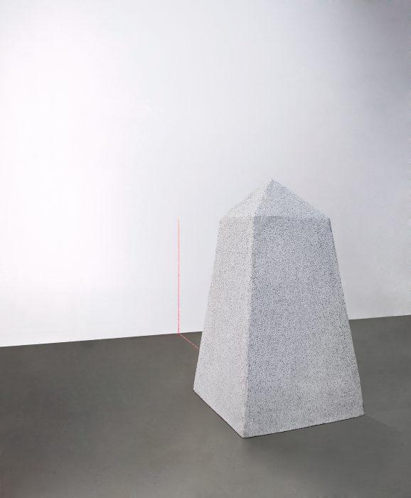 Mariana Vassileva / 2011 / landmark / Styrofoam / motor / electronic track laser / 85x 45cm