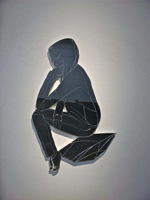Mariana Vassileva / 2011 / the thinker / mirror / 50x100cm