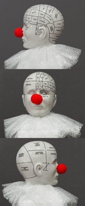 Mariana Vassileva / 2015 / Phrenology Head / object / 45x40cm